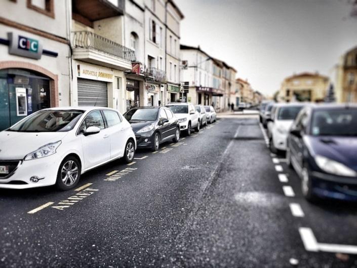 vue centre-ville voiture