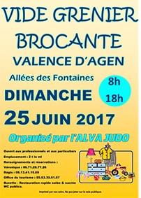 Vide-greniers alva judo @ allées des fontaines   Valence d'Agen   Occitanie   France