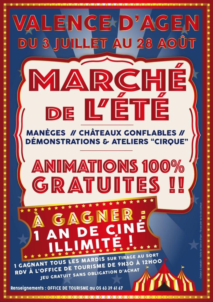 À l occasion des 250 ans du Cirque, le marché de l été à Valence d Agen  vous réserve de nombreuses surprises ! Venez nombreux tous les mardis  matins du 3 ... 6d80181295f5